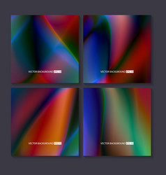 Colourful backgrounds set mesh template vector