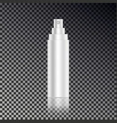 Cosmetic open hair spray ads template blank cosme vector