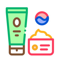 cosmetics package icon outline vector image