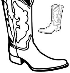 Cowboy boot cartoon graphic vector