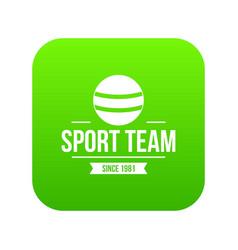 cricket ball icon green vector image