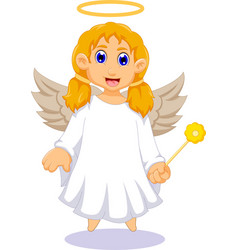 Cute angel cartoon for you design vector