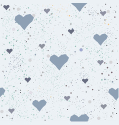 cute hearts background seamless pattern vector image