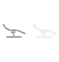 Dentist chair the grey set icon vector