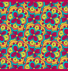 doodle floral pattern seamless background for vector image
