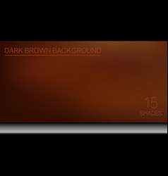 elegant brown background consisting of 15 shades vector image