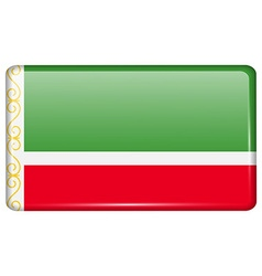 Flags Chechen Republic in the form of a magnet on vector