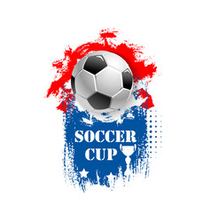 For soccer cup emblem for football club vector
