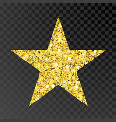 Gold glitter star golden sparcle star on vector