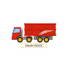 Grain truck machinery icon vector