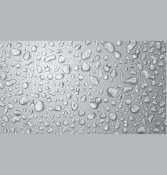 Gray background of water drops vector