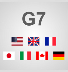group of seven great countries vector image