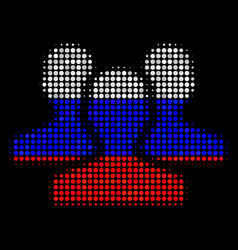 Halftone russian users icon vector