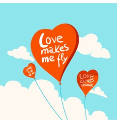 heart balloons in sky vector image