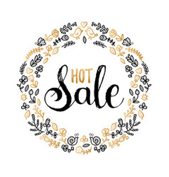 Hot sale poster hand lettering in floral vector