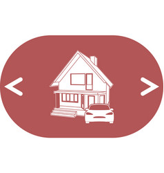 House concept icon vector