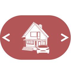 House concept icon vector