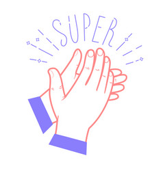 Icon clapping hands vector
