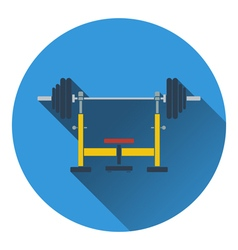 Icon of Bench with barbell vector image
