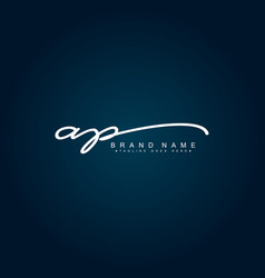 Initial letter ap logo - hand drawn signature logo vector