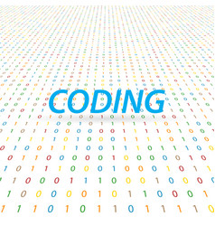 Inscription is coding on a digital background vector