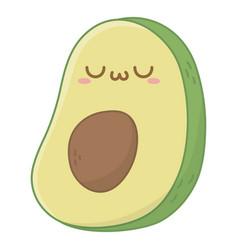 Kawaii avocado cartoon design vector