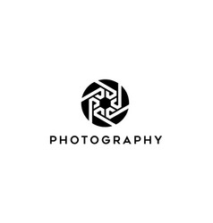 Letter p with camera logo concept vector