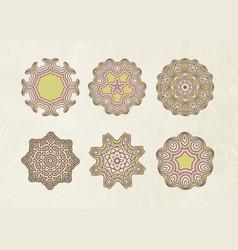 mandala art set vector image