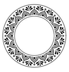 Mandala australian dot paiting style- monochrome vector