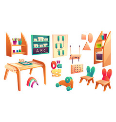 montessori set elements for elementary vector image