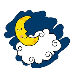 Moon design vector