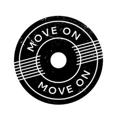 Move on rubber stamp vector