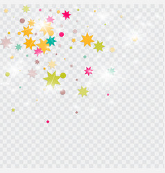 Multicolored confetti vector