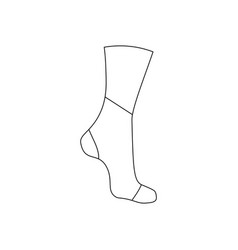neoprene brace on the ankle vector image