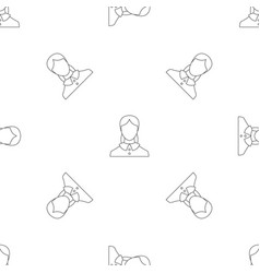 new woman user pattern seamless vector image