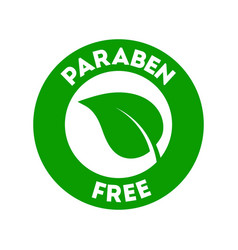Paraben free icon vector