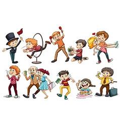 People doing different activities vector image