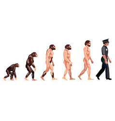 Police evolution on white background vector