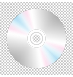 Realistic cd-disk backside vector