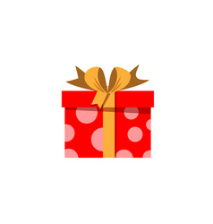 red gift box icon isolated on white background vector image