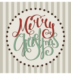 Retro calligraphic inscription Merry Christmas vector