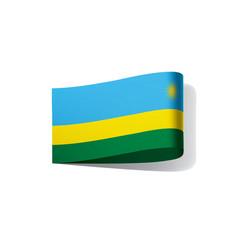 Rwanda flag vector