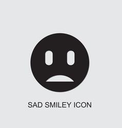 Sad smiley icon vector