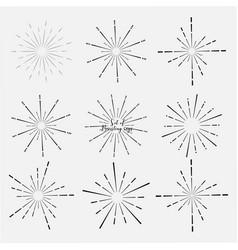 Set of sunburst vector