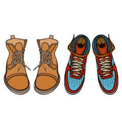 Shoes boots vector