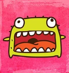 smiling monster cartoon vector image