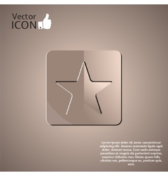 Star Button on the Background vector image