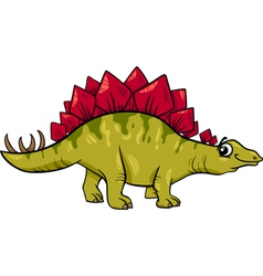 stegosaurus dinosaur cartoon vector image