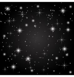 The starry sky on a black background Abstraction vector