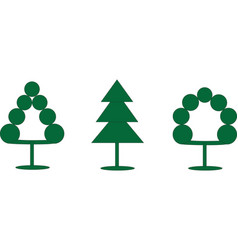 Three schematic trees vector